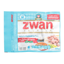 Salchicha de pavo Zwan cocktail salsa soya limón 500 g
