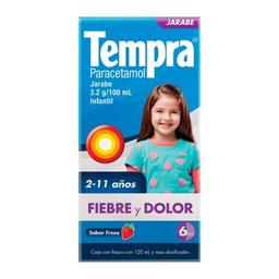 Jarabe Tempra Infantil fiebre y dolor fresa 120 ml