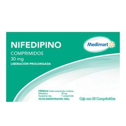 Nifedipino Medimart 30 mg 30 comprimidos