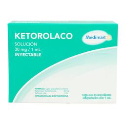 Ketorolaco Medimart 30 mg/1 ml solución inyectable 3 U 1 ml