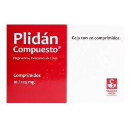 Plidán Compuesto 10/125 mg, 20 comprimidos