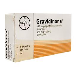 Gravidinona solución inyectable 1 ampolleta con 2 ml