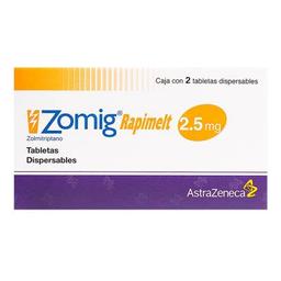 Zomig rapimelt 2.5 mg, 2 tabletas dispersables