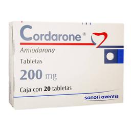 Cordarone 200 mg, 20 tabletas