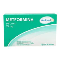 Metformina Medimart 850 mg 30 tabletas