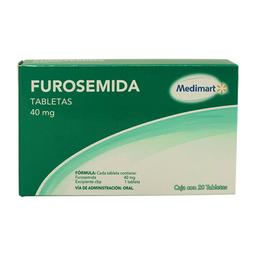 Furosemida Medi Mart 40 mg, 20 tabletas