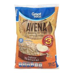 Avena Great Value sabor natural 311 g