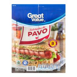 Salchicha de pavo Great Value paquete 8 U