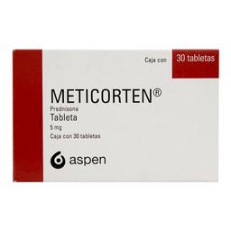 Meticorten 5 mg, 30 tabletas