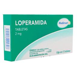 Loperamida Medimart 2 mg 12 tabletas