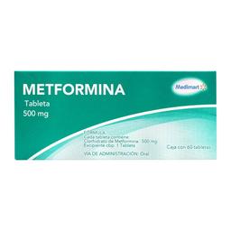 Metformina Medimart 500 mg 60 tabletas