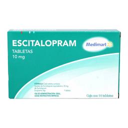 Escitalopram Medimart 10 mg, 14 tabletas