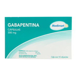 Gabapentina Medi Mart 300 mg, 15 cápsulas