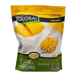 Granos de elote Global Premier dulce, congelados 340 g