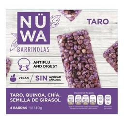Barras Barrinolas nüwa taro 1 paquete 4 U de 35 g c/u
