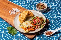 Tortilla Española con Verduras Asadas