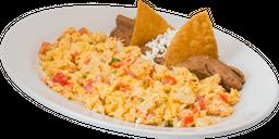 Huevos a la Mexicana con Jamón