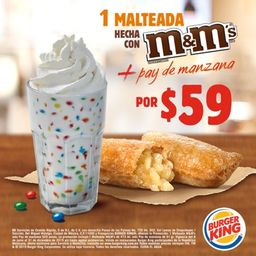 Malteada M&M's + Pay de Manzana