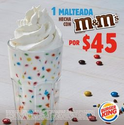 Malteada M&M's 16 oz