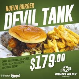 Devil Tank + Papas + Refresco