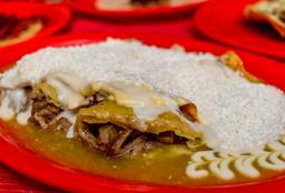 Enchiladas con Cecina
