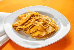 Taco de Canasta de Chicharrón prensado