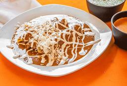 Enmoladas o Enchiladas Verdes