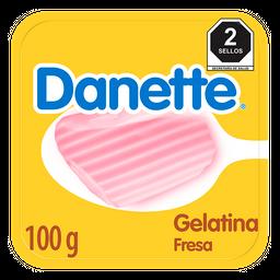 Gelatina A Base De Leche Danette Fresa 100G