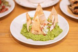 Guacamole con Totopos de Pan Pita