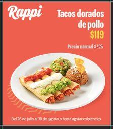 % Off Tacos Dorados de Pollo