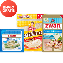 Rappicombo Pechuga Pavo + Queso + Tortillas
