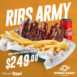 Paquete Ribs Army