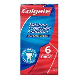 Pasta Dental Colgate  Maxima Proteccion Anticaries 6Pzs