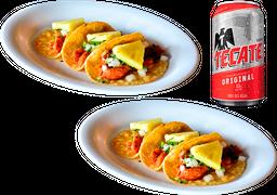 2x1 Orden de Tacos de Pescado al Pastor +  1 Cerveza Gratis
