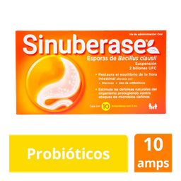 Sinuberase Susp 5 mL 10 Amp