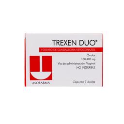 "Trexen Duo 7 Ã""Vulos Caja Clindamicina 100 mg Ketoconazol 400 mg"