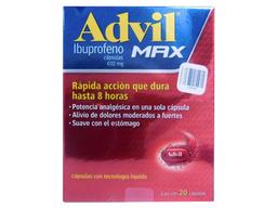 Advil Max Oral 20 Cápsulas (400 mg)