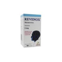 Revenox Medicamento Herbolario 60 Tabletas Bote Melatonina 3 mg