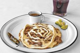 Sope Bistec Queso Oaxaca