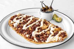 Huarache de Migaja con Queso Panela