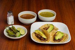 Tacos de Migaja con Queso Oaxaca