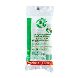 Jeringa DL Para Insulina 0.5 mL 31x8 10 U