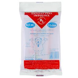 Jeringa P/Insulina 0.5Ml 31X8 10Pzas