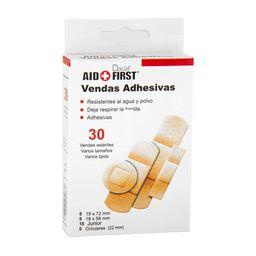 Venda Adhesiva Aid + First Varios Tamaños 30 U