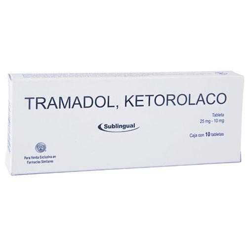Comprar Ketorolaco/tram 10/25mg Sub