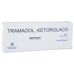 Ketorolaco/Tram 10/25Mg 10Tab Sub