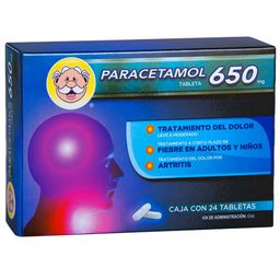 3x2 Paracetamol 650Mg 24Tab