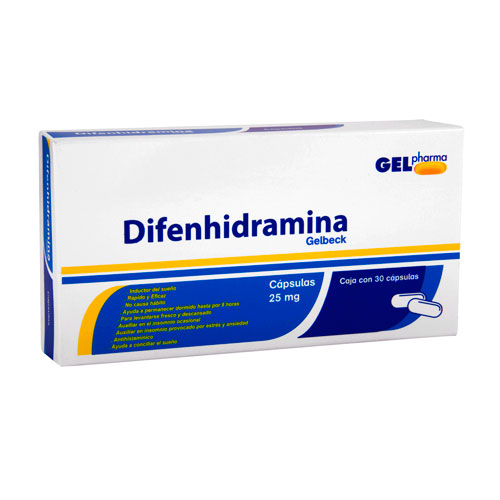 Comprar Difenhidramina 25Mg 30Cap
