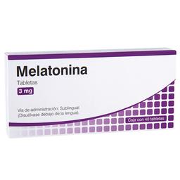 Melatonina Sublingual 40 Tabletas (3 Mg)