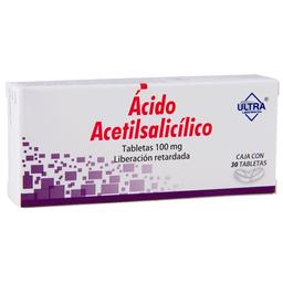 Ácido Acetilsalicilico 30 Tabletas (100 Mg)